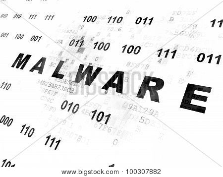 Protection concept: Malware on Digital background
