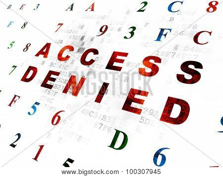 Safety concept: Access Denied on Digital background