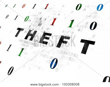 Privacy concept: Theft on Digital background