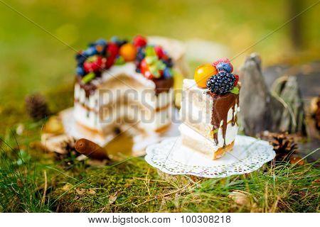 Summer berry cake