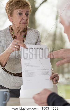 Divorce Of Senior Couple