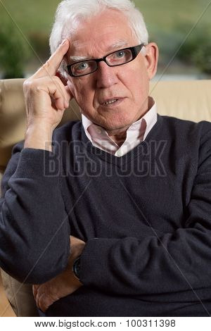 Portrait Of Elder Elegant Man