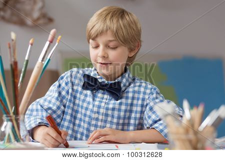 Elegant Pupil Of Art School
