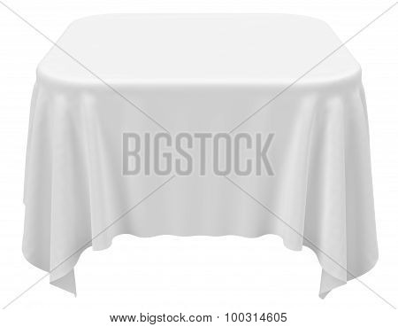 Square Rounded Tablecloth