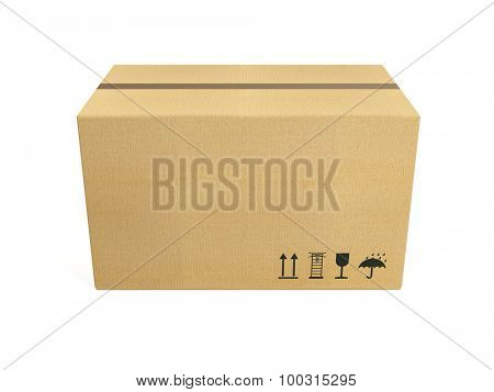 Cardboard box, isolated on white