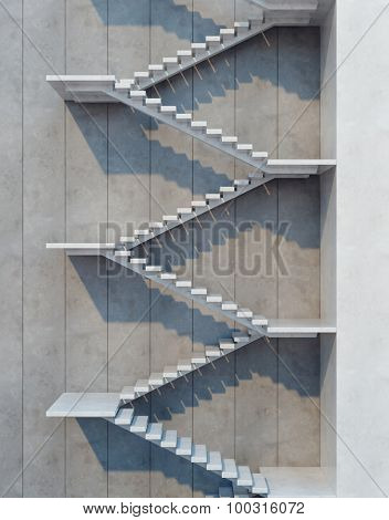 stairs leading upward, architectural composition
