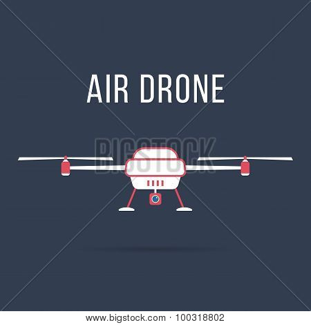 white and pink air drone