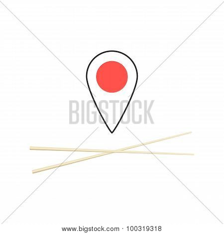 concept of finding sushi bar