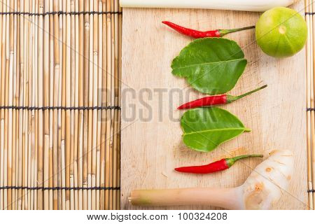 Thai Tom Yam Soup Herbs And Spices