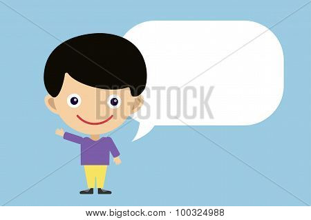 Vector cute cartoon boy