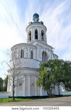 Gate bell tower of Svyato-Bogolyubsky nunnery, Bogolyubovo, Vladimir region, Russia