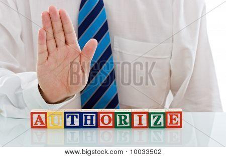 Businessman With Blocks