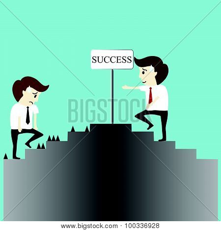Business Man Success And Failure