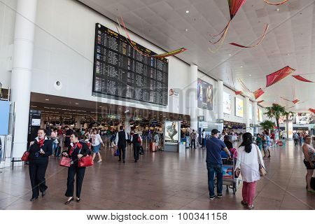 Interior Of The Brussels International Airport