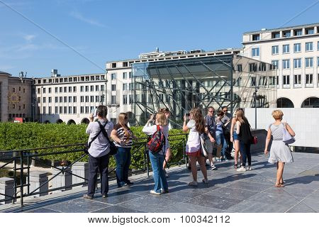 Tourists At The Square, Brussels