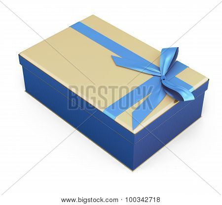 Blue-beige Gift Box