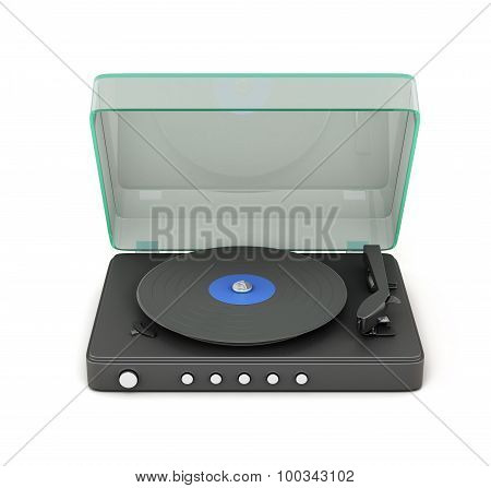 Turntable With The Lid Open