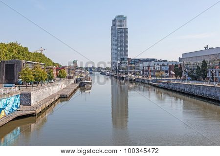 VIew of Brussels - Charleroi Canal, Belgium