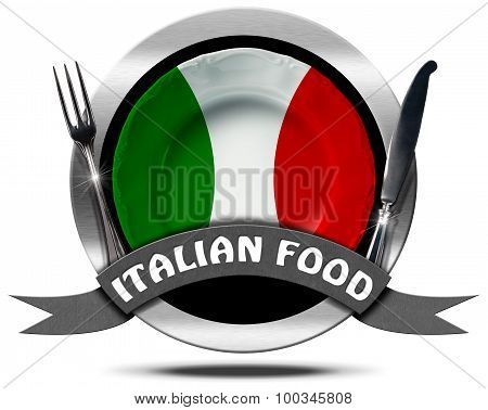Italian Food - Metal Icon