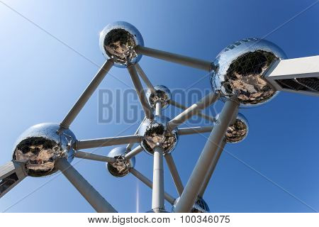 The Atomium Structure In Brussels, Belgium