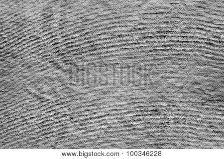 Textured Background Of Dark Gray Rough Fabric