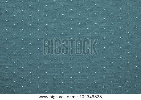 Thin Knitted Fabric Of Blue Green Color With Blond Specks