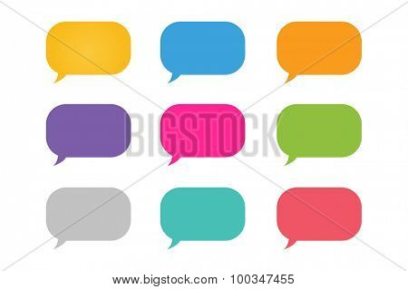 Vector bubble shape. Bubble icon logo. Bubbles template icons set. Colorful bubble elements. Set of colorful vector bubbles. Communication bubble vectors.