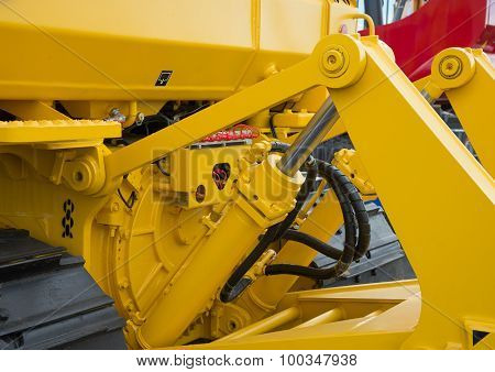 Detail Of Hydraulic Bulldozer Piston