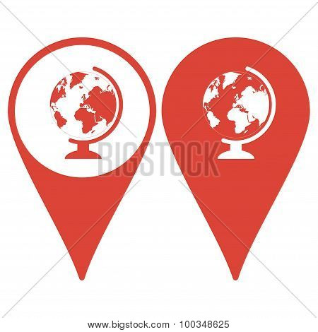 Geography School Earth Globe Web Icon. Vector Illustration.