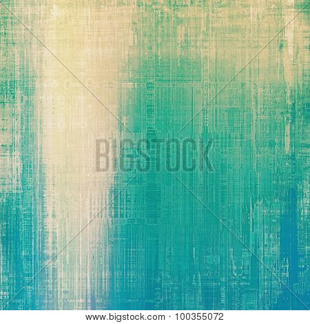 Vintage old texture for background. With different color patterns: yellow (beige); blue; cyan; green