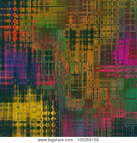 Old ancient texture, may be used as abstract grunge background. With different color patterns: brown; green; red (orange); pink; purple (violet)