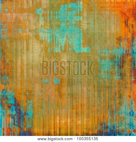 Abstract distressed grunge background. With different color patterns: yellow (beige); brown; blue; red (orange)