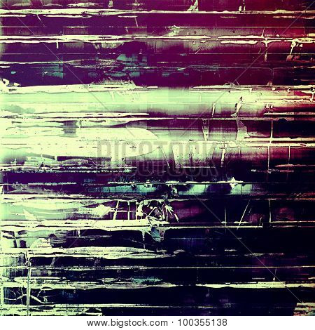Old antique texture or background. With different color patterns: blue; pink; gray; purple (violet)
