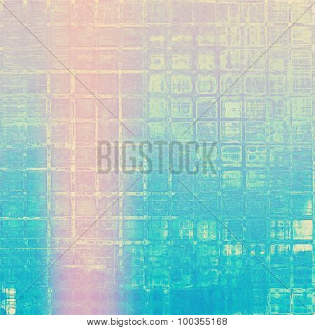 Old antique texture or background. With different color patterns: yellow (beige); blue; cyan; pink