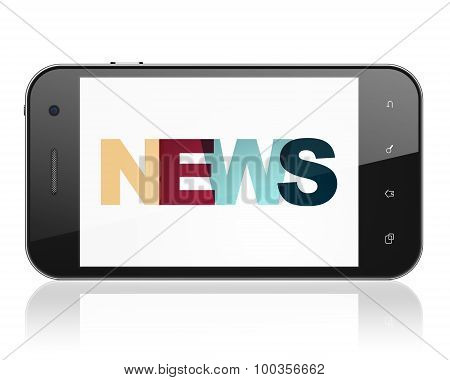 News concept: Smartphone with News on  display