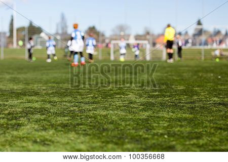 Blurred Kids Playing Football