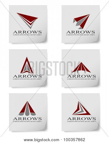 Vector illustration of arrow design elements