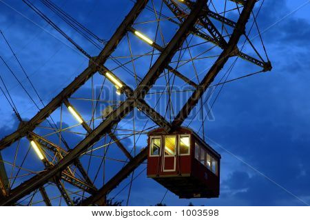 Fragment Og Giant Ferris Wheel Under Dramatic Sky