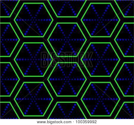 Psychodelic Hexagonal Texture