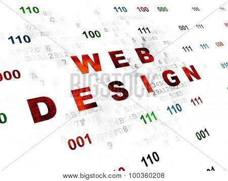 Web development concept: Web Design on Digital background