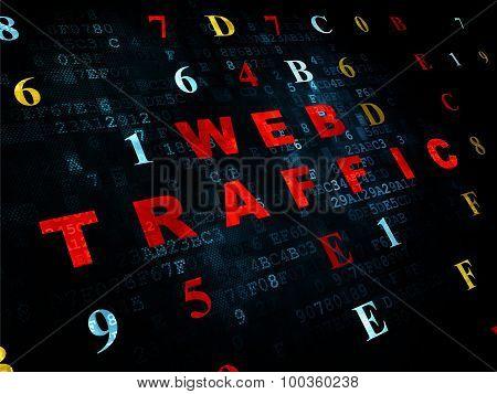 Web design concept: Web Traffic on Digital background