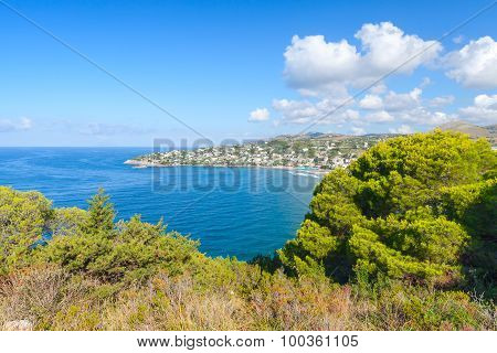 Mediterranean Sea Coast. Bay Of Gaeta, Italy