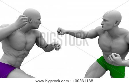 Martial Arts Concept for Fighting and Protection
