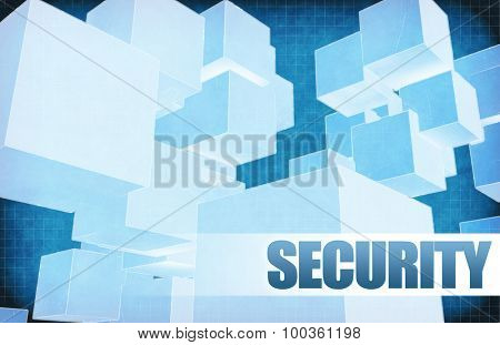 Security on Futuristic Abstract for Presentation Slide
