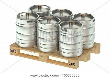 Beer Kegs On Pallet