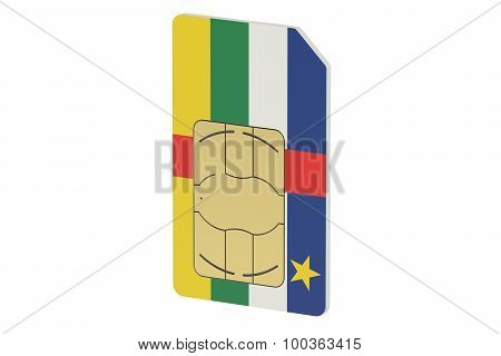 Sim Card With Flag Of Central African Republic