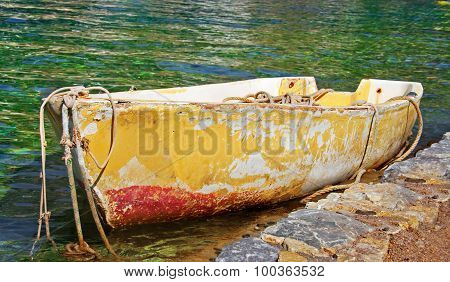 Old Abandoned Rowing Boat