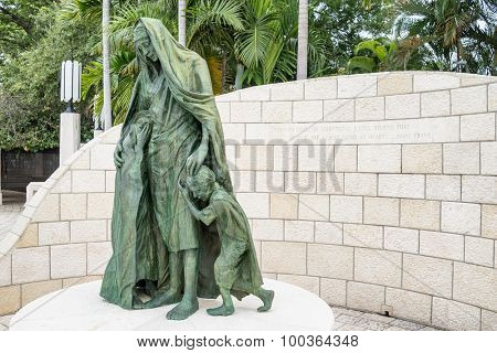 MIAMI,USA - JULY 31, 2015 : The Holocaust Memorial on Miami Beach
