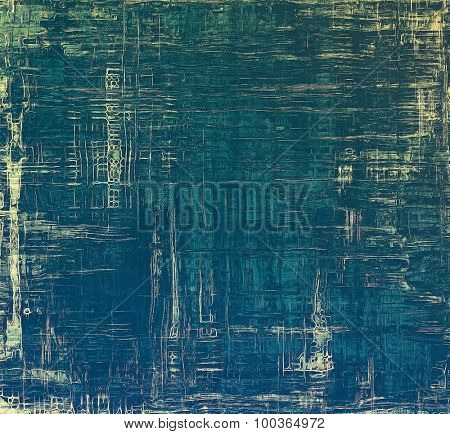 Old school textured background. With different color patterns: yellow (beige); blue; cyan; green