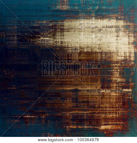 Abstract grunge background. With different color patterns: yellow (beige); brown; blue; gray